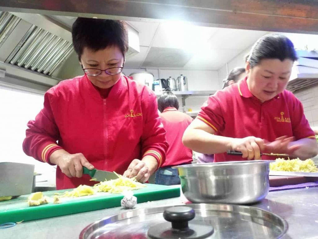 Volunteers started preparing food for the Laba Festival